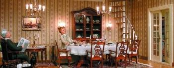 Chippendale Esszimmer mit Wendeltreppe