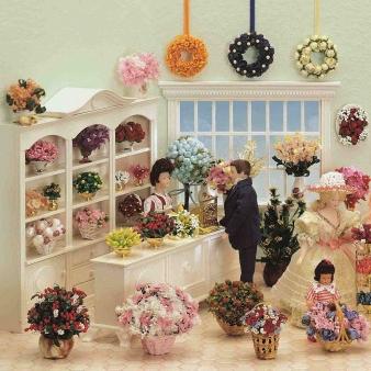 Bausatz-Set - Blumengeschäft - inklusive Lackspray