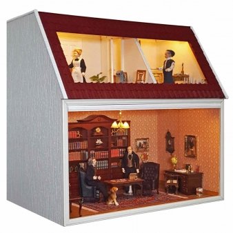 Small MODULE BOX HOUSE with Top floor and studio window