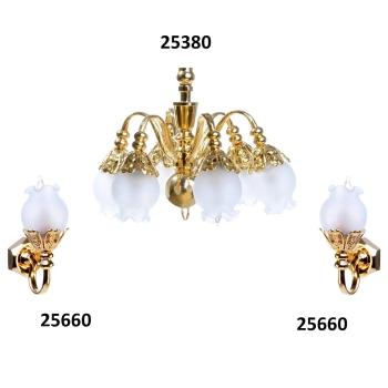 6-lamp chandelier, MiniLux