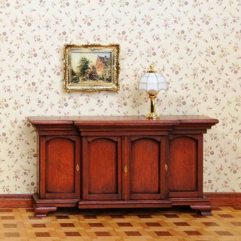 Chippendale sideboard with 4 doors