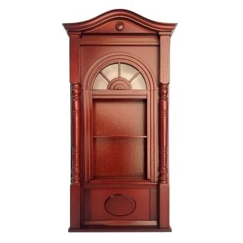Open cupboard with cornice