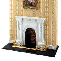 Victorian fireplace mantle