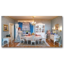 Bausatz-Set - Englisches Esszimmer in Weiß
