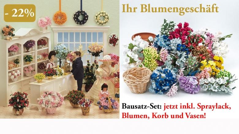Gestalten Sie mit dem großen Set an Blumen Ihren eigenen Blumenladen!