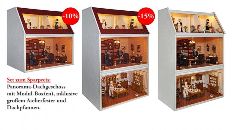 Im SET: Das neue PANORAMA Dachgeschoss mit MODUL-BOX(en)