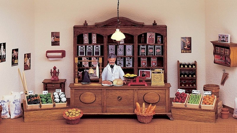 Bausatz-Set - Krämerladen - inklusive Miniaturen und Zubehör!