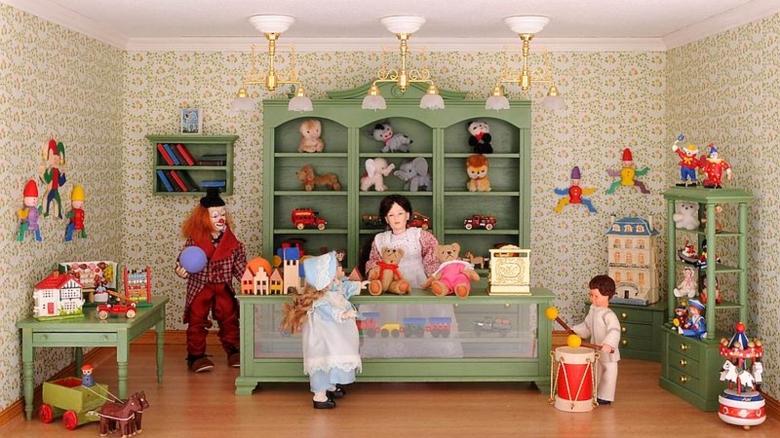 Bausatz-Set - Spielzeugladen - inklusive Lackspray in Reseda-Grün!