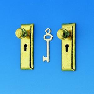 Doorplate with door knop and key