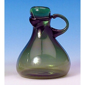 Green glass carafe with glass plug