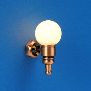 Wall-mounted lamp with glass ball, MiniLux