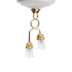 2-arm ceiling lamp with tulip covers, MiniLux