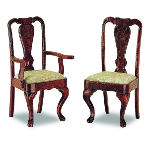 Queen-Anne armchair, 2 pieces