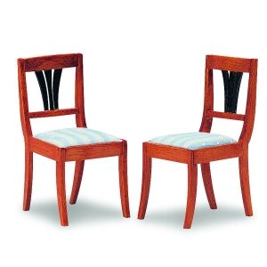 Biedermeier upholstered chairs, 2 pieces