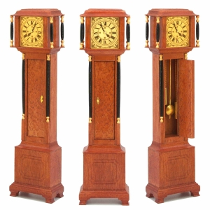 Biedermeier longcase clock