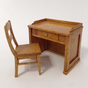 Teacher's desk and chair