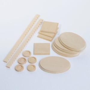 Holz-Zierteile Set