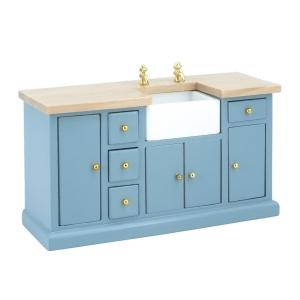 Kitchen sideboard with sink, blue