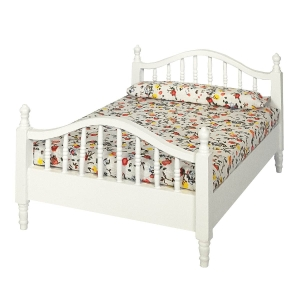 Double bed, white
