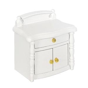 Bedside cabinet, white