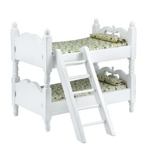 Etagen-Kinderbett, weiß