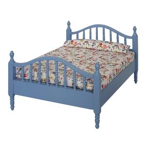 Doppelbett, blau