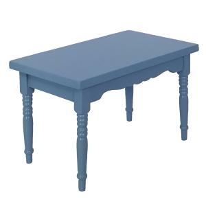 Kitchen table, blue