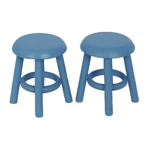 Hocker, blau, 2 Stück