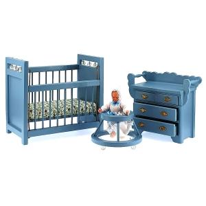 Kleinkinder-Zimmer, blau (3-teilig)