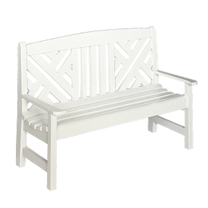 Garden bench, white