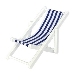 Strand deck chair, white