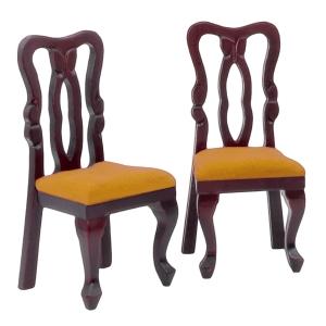 Chairs, mahogany, 2 pcs.