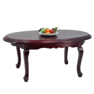 Oval table, mahogany