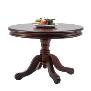 Round table, mahogany