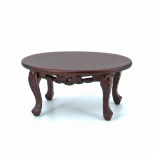 Small oval sofa table, mahogany