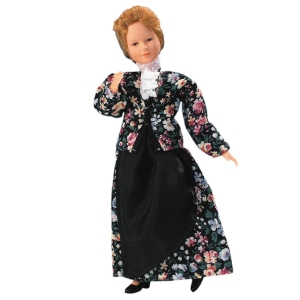 Junge Frau im geblümten Kleid