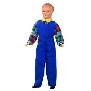 Mechanic / installer in blue coveralls