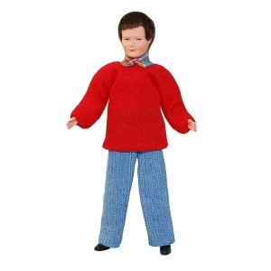 Mann im roten Pullover