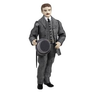 Junger Mann mit Stock und Hut