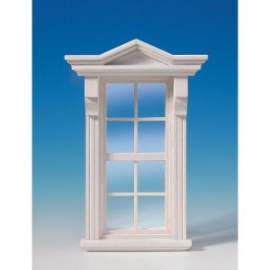 Victorian window, white