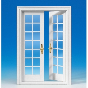 French double door, white