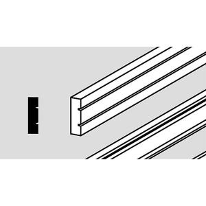 Cover strip for edge cladding, white