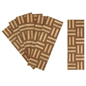 Square Basket parquet - laser print on wood