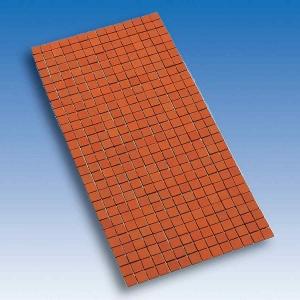 Terrakotta Fußbodenplatten, auf Netz, 150 x 300 mm