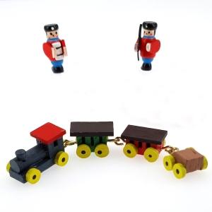 Spielzeug-Set aus Holz mit Eisenbahn