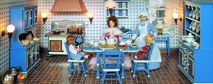 Stil-Küche in Blau
