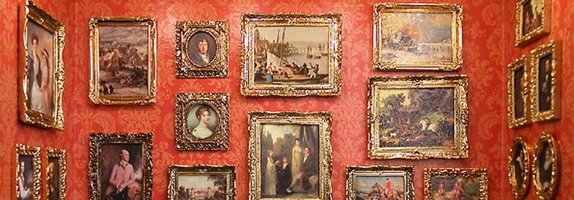 Bilderrahmen und Gemälde