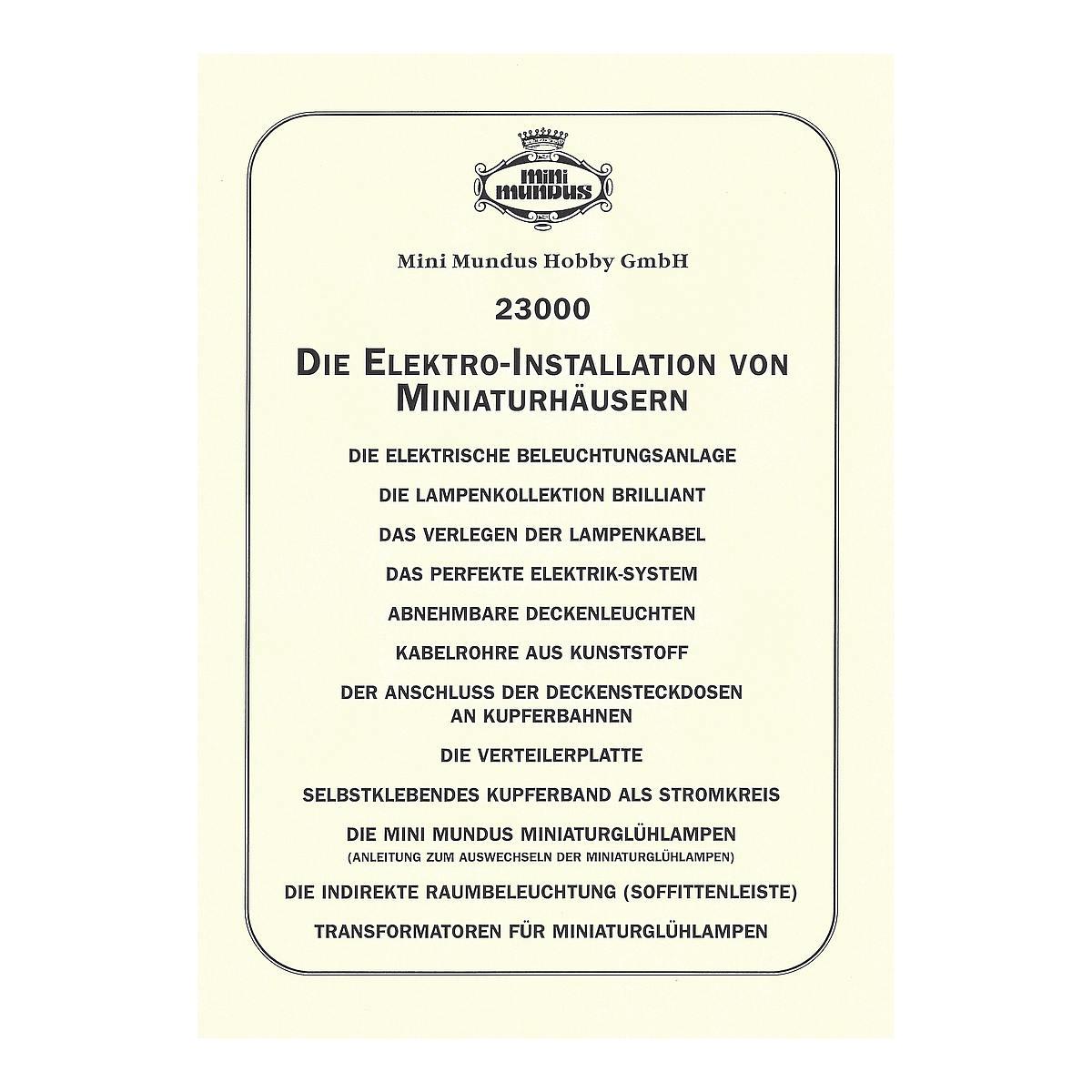 Anleitung - Elektroinstallation