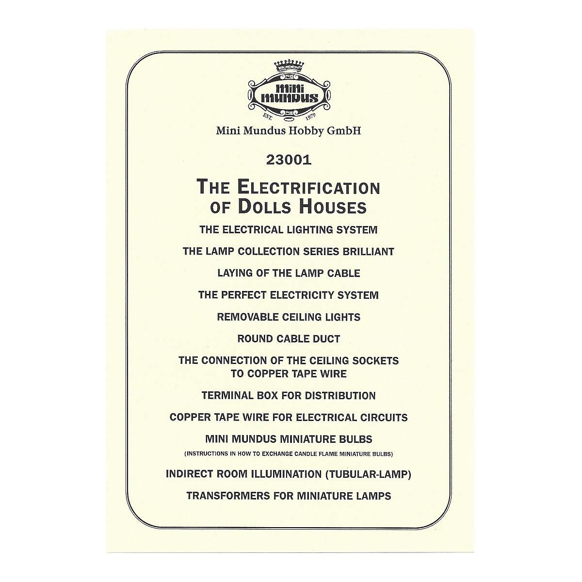 Anleitung - Elektroinstallation - ENGLISCH