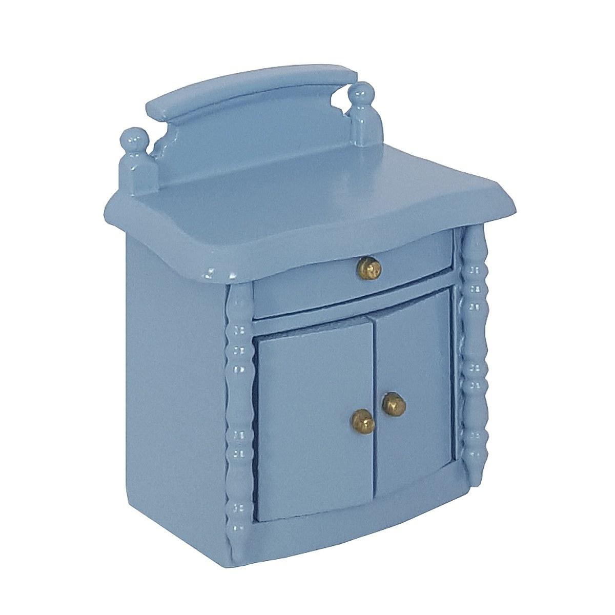 Nachttisch, blau